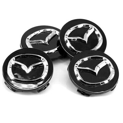 wheel center caps 4x metal STICKERS front rear badge hub emblem MAZDA GT