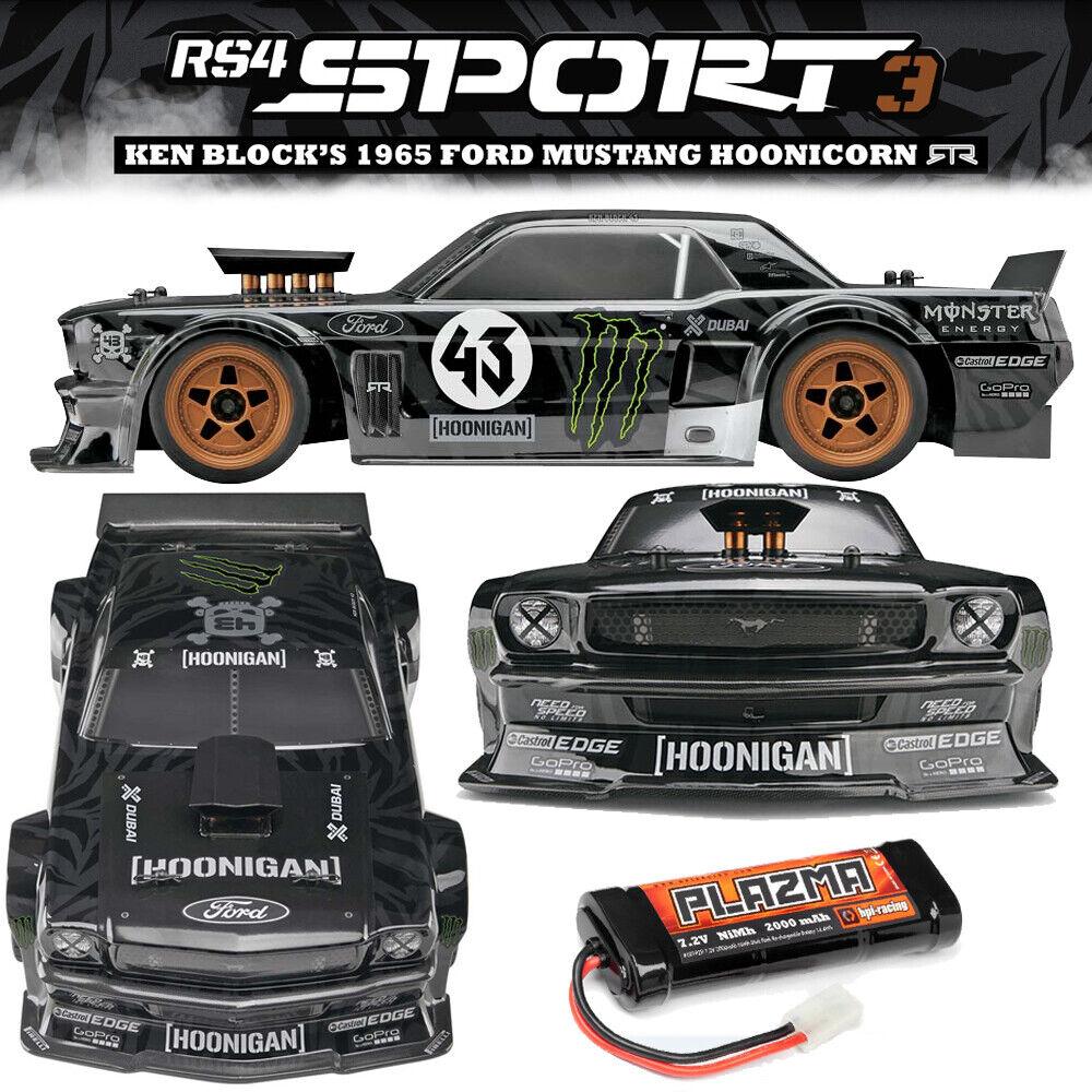 nuovo HPI 1 10 RS4 SPORT3 '65 Mustang  Hoonicorn auto RTR w Battery  gratuito US SHIP  prezzi eccellenti