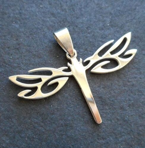 """1.75/"""" Polished stainless steel dragonfly Charm pendants"""