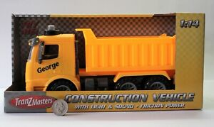 PERSONALISED-NAME-Tipper-Lorry-Tipping-Truck-Lights-Sound-Toys-Boys-Present-Gift