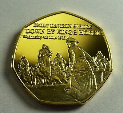 SUFFRAGETTE DAVISON KILLED 1913 NEWSPAPER Collectors Token//Medal 24ct Gold.