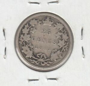 1887-Canada-Twenty-Five-Cents-Key-Date