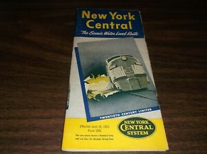 JUNE-1953-NEW-YORK-CENTRAL-NYC-FORM-1001-SYSTEM-PUBLIC-TIMETABLE