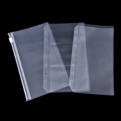 A5//A6 Transparent Zip Lock Envelope Binder Pocket Refill Organiser StationeryONZ