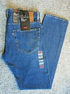 Levi-039-s-Hommes-502-Bleu-Denim-Jeans-Original-Genuine-Regular-Taper-Fit-W31-L34-NEUF