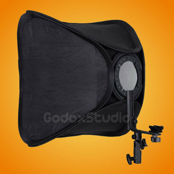 "16""x16"" / 40x40cm Folding Speedlite Flash Speedlight Softbox w/ Mounting Bracket"