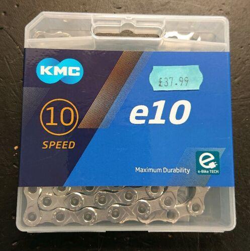 KMC E-bike chain e10 Silver e-bike chain 10 Speed 122 Links NEW DESIGN