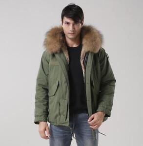 Mens Short Parka With Fur