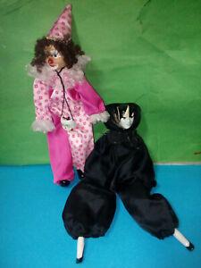 Bambole Fashion Pagliaccio E Maschera Tipo Piero