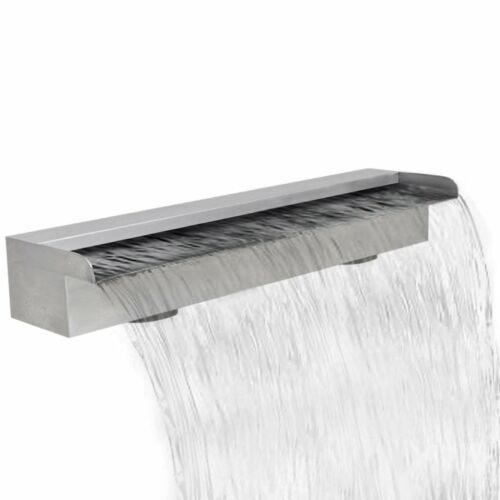 "vidaXL Waterfall Pool Stainless Steel 23.6/"" Cascade Fountain Garden Outdoor"
