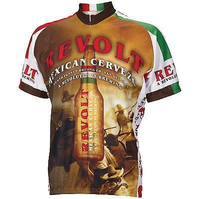 World Jersey's Revolt Cerveza Cycling Jersey Medium Bike