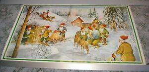 Vintage-Erik-Forsman-Tomte-Swedish-Dwarf-Elf-Print-Feeding-Deer