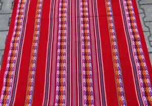 Peru Tischdecke weinrot dunkelrot Anden Indio Inka Tragetuch Manta 110x120 cm