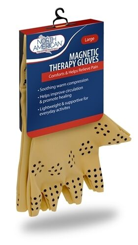 Magnetic Therapy Gloves Compression Arthritis Circulation Supports Joints Heal