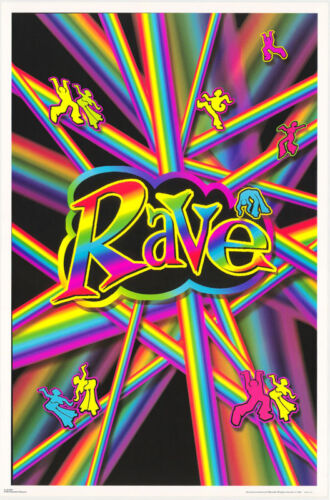 POSTER : PSYCHEDELIC:   RAVE FREE SHIPPING #FL35  RC35 C SMOOTH VERSION