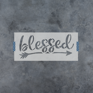 Durable /& Reusable Mylar Stencils Blessed Arrow Stencil