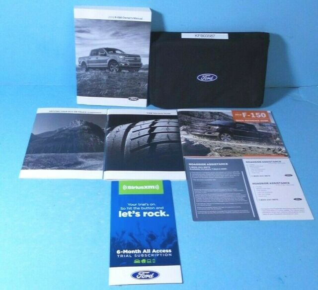 2001 Ford F-150 Owners Manual With Zippered Binder Case
