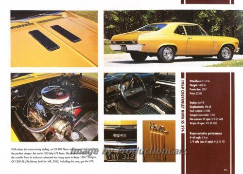 Original Car Print Article J263 1969 Chevrolet Nova SS 396