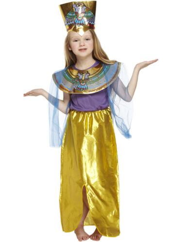 BAMBINO Egiziano Ragazza Costume REGINA DEL NILO CLEOPATRA nuovo costume faraone