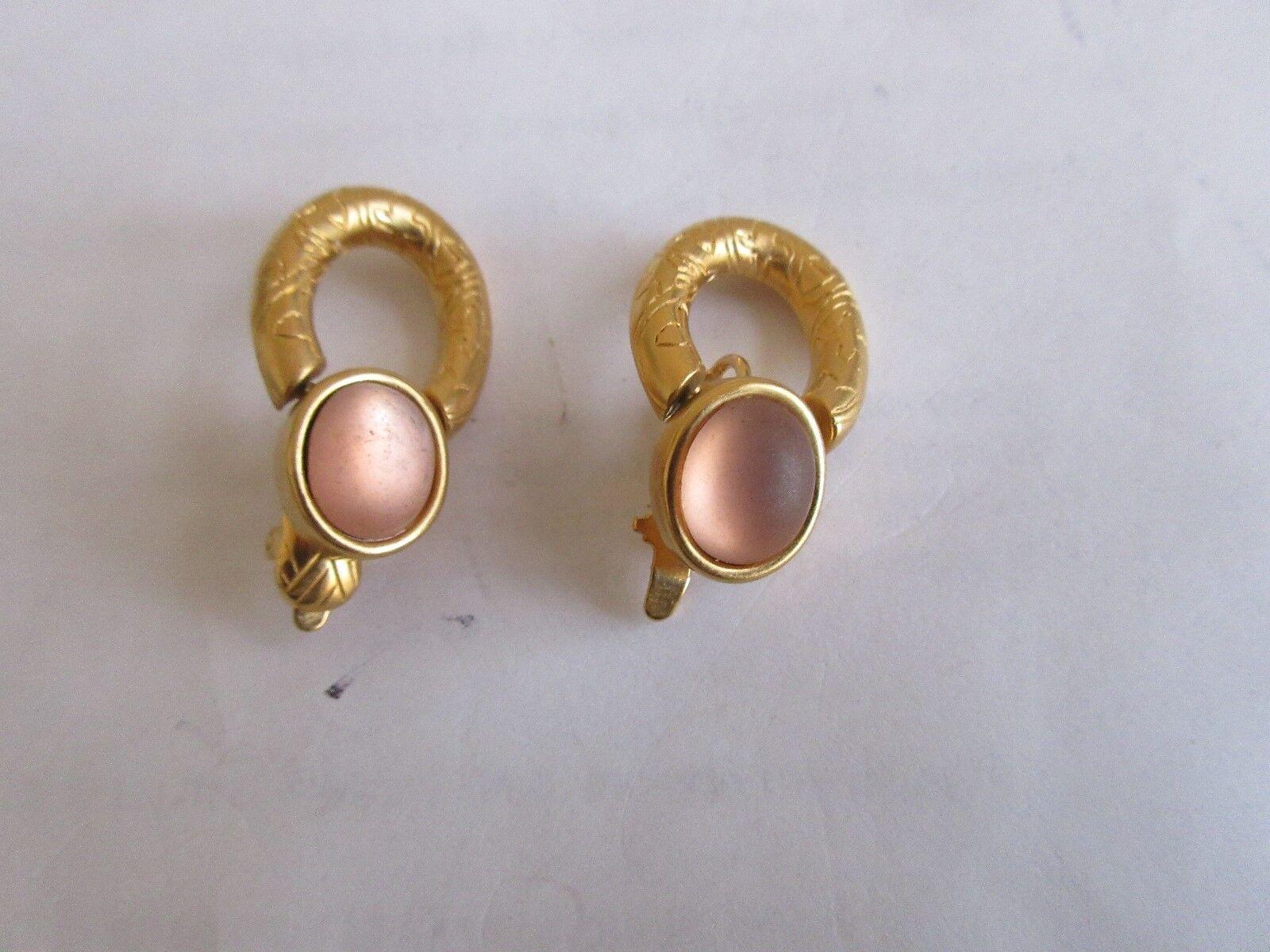 """Ladies Earrings ,Loop / Stone ,Needs TLC , Loop 3/4"""" X"""