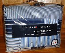 Tommy Hilfiger SANFORD 2pc TWIN COMFORTER Bed Set BLUE WHITE Patchwork XL Single