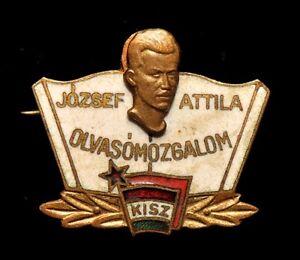 Hungarian-Young-Communist-League-KISZ-Jozsef-Attila-Pin-Badge
