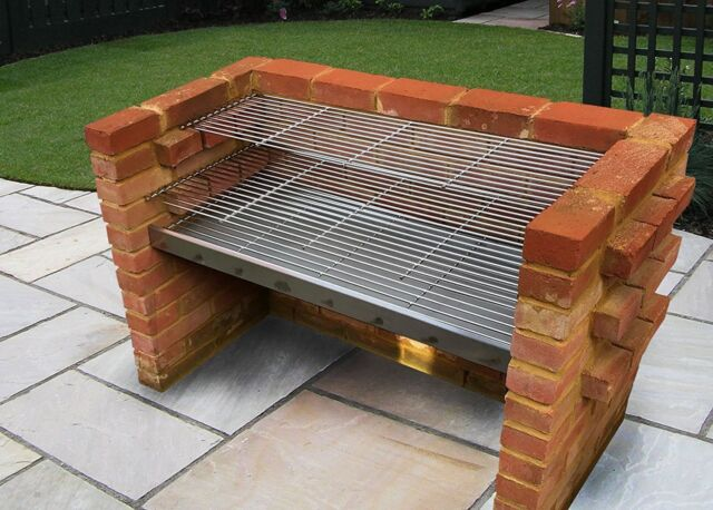Extra Large Stainless Steel HEAVY DUTY DIY Brick Charcoal BBQ Kit 1120mm