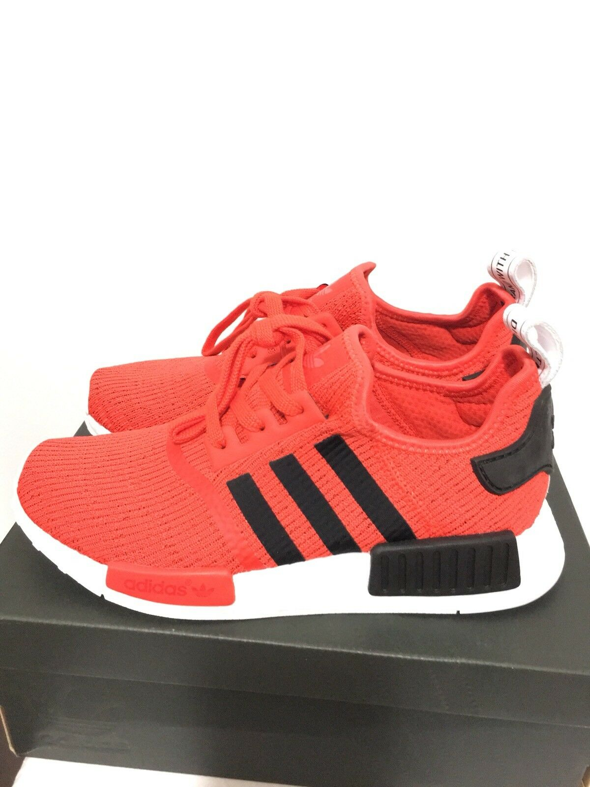 ADIDAS NMD R1 - Core Red / Core Black / Running White - BB2885 - Size 9.5