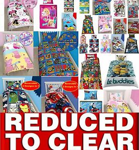 Clearance-Disney-Cartoon-Kids-Bedding-Single-Double-Duvet-Cover-Bed-Set-REDUCED