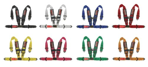 V-Type 4 Point Racing Harness Set Latch and Link 2 inch Safety Seat Belt GREEN