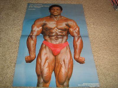 bodybuilder TONY PEARSON/Ahmet Enunlu Bodybuilding Muscle 2 sided Poster Color