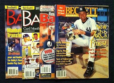 Four 4 Beckett Magazines All Derek Jeter Covers Baseball Card Price Guides Ebay