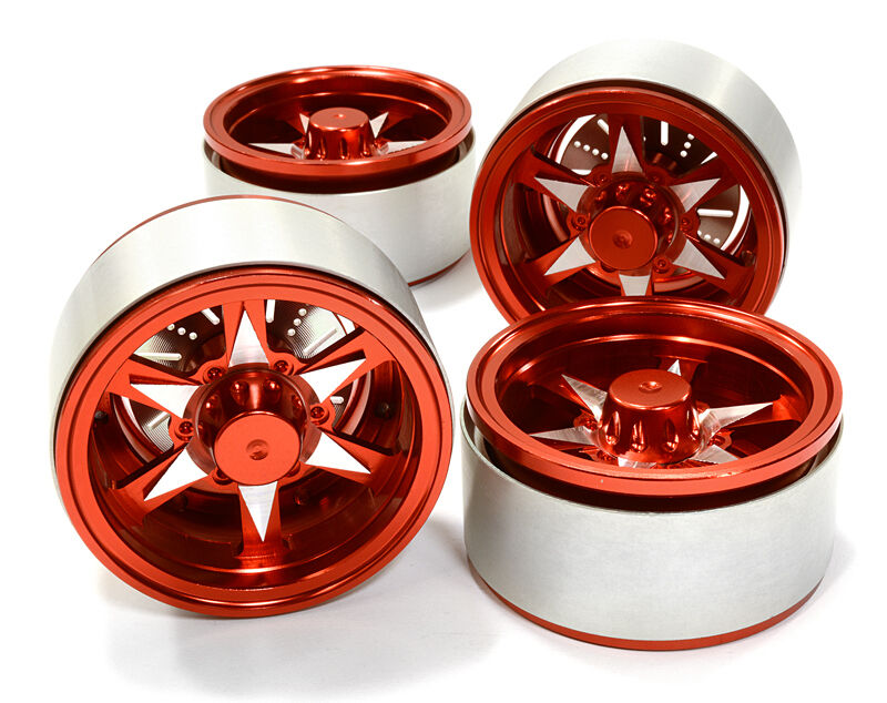 C26614rosso Integy 1.9 Dimensione Billet Alloy 6V Spoke Wheel(4)High Mass for Crawler