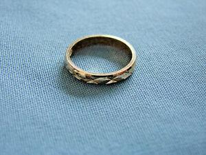 Silberring-elegant-vergoldet-alt-Groesse-49-Ring-Silber-835-gepunzt-900-VI