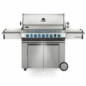 Napoleon Prestige PRO 665 Grill On Cart with Infrared Rotisserie and Side Burner