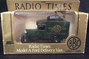 Lledo-BBC-cinquant-039-anni-della-televisione-radio-Times-MODEL-A-FORD-VAN-SPEDIZIONE-GRATUITA