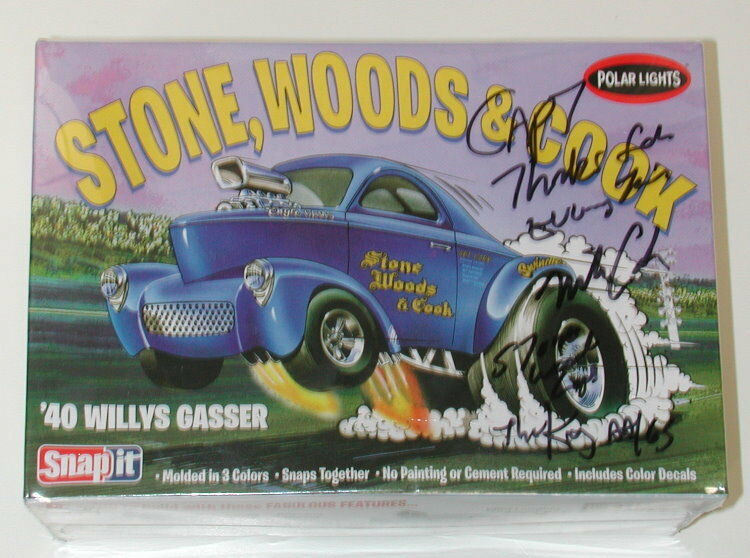 Polar Lights Stone, Woods, Cook '40 Willys Gasser SIGNED BY MIKE COOK