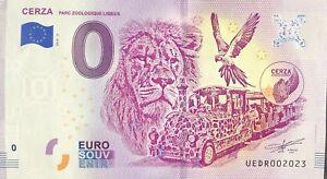 BILLET-0-ZERO-EURO-SOUVENIR-TOURISTIQUE-CERZA-PARC-ZOOLOGIQUE-LISIEUX-2019-3