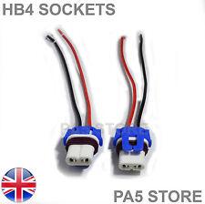 2x HB4 Wired Socket Ceramic Bulb Holders LED HID XENON 12v Fog Head light 9006