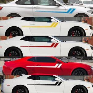 1-Pair-68x8-7in-Car-Truck-Fender-Hash-Stripe-Racing-Graphic-Vinyl-Decal-Stickers