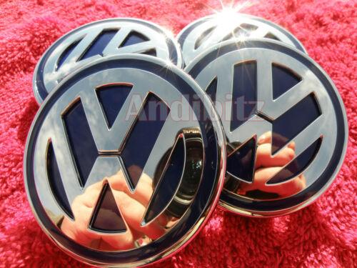 RANGE ROVER SPORT VOGUE ALLOY WHEELS TO VW T5 CHROME BLACK BADGE CENTRE CAPS