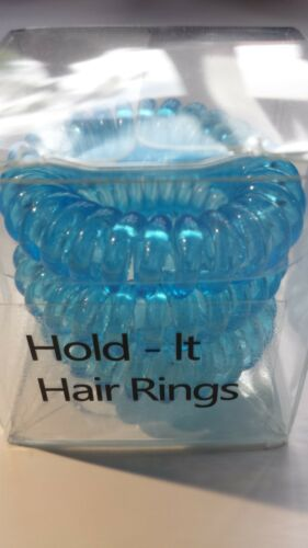 Hold It Hair Rings 4cm Spiral Hair Bands Stretchy Bobbles Hair Band Hairbands
