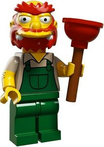 The-Simpsons-2-Lego-collectible-minifig-Groundskeeper-Willie-plumber-039-s-plunger