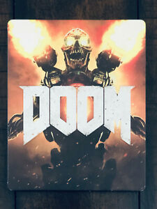 PS4-Xbox-One-Doom-2016-Steelbook-Case-ONLY-NO-DISC-NO-GAME-Bethesda