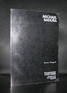Frankfurter-Kunstverein-MICHAEL-BADURA-signed-1975-nm