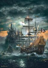 Puzzle Das Piratenschiff, 1500 Teile, Segelschiff, Fantasy, Nautik, Clementoni