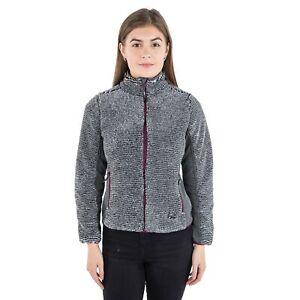 Trespass-Muirhead-Women-Grey-Fleece-Heavyweight-Full-Zip-Hiking-Jumper