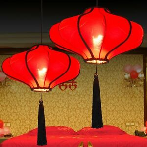 Details About 20 Chinese Lantern Dining Room Ceiling Pendant Light Restaurant Lamp Fixtures