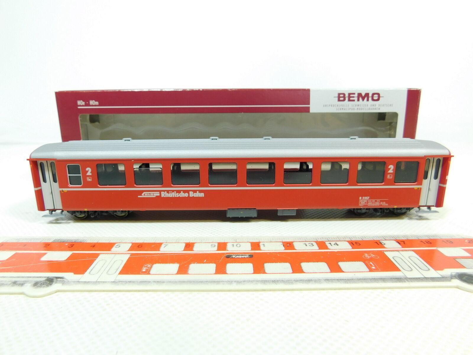 Br28-0,5 Bemo H0m   Dc 3250 137 Vagone Passeggeri Carroza B 2357 Rhb , Nuovo +