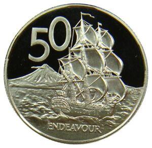 P218-Nouvelle-Zelande-New-Zealand-50-Cents-1984-Voilier-Navire-Ship